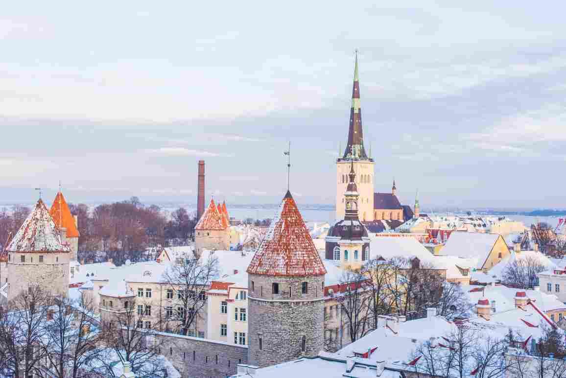 Photo of the city of Tallinn